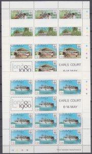 1980 Kiribati 349KL-352KL Airplanes and ships 23,00 €