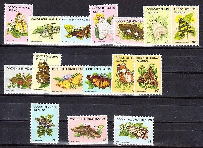 Cocos Islands Scott 87-102 Mint NH (Catalog Value $21.90)