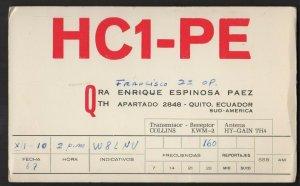 QSL CARD (Paco)Francisco,HC1-PE,Quito,Ecuador,Sud-America(Q4524)