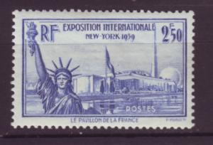 J20131 jlstamps 1939-40 france mh #373 statue liberty