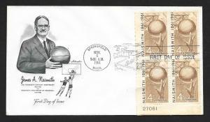 UNITED STATES FDC 4¢ Basketball PLATE BLOCK 1961 Artmaster