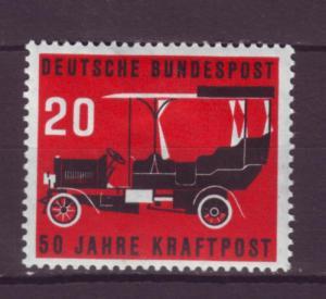 J1062 jls stamp 1955 germany mh scn 728 old car set/1