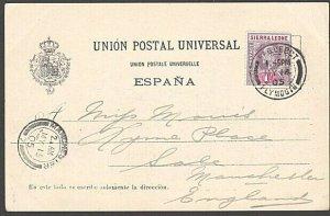 SIERRA LEONE 1905 postcard EVII 1d cancelled PAQUEBOT / PLYMOUTH cds........7635