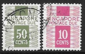 SINGAPORE SGD9/10 1973 POSTAGE DUES MNH