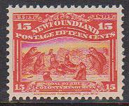 Newfoundland - 1897 15c Scarlet Seals mint #70