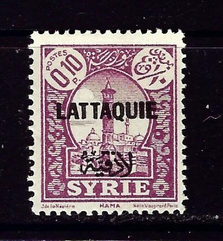 Latakia #1 Hinged 1931 Overprint on stamp of Syria