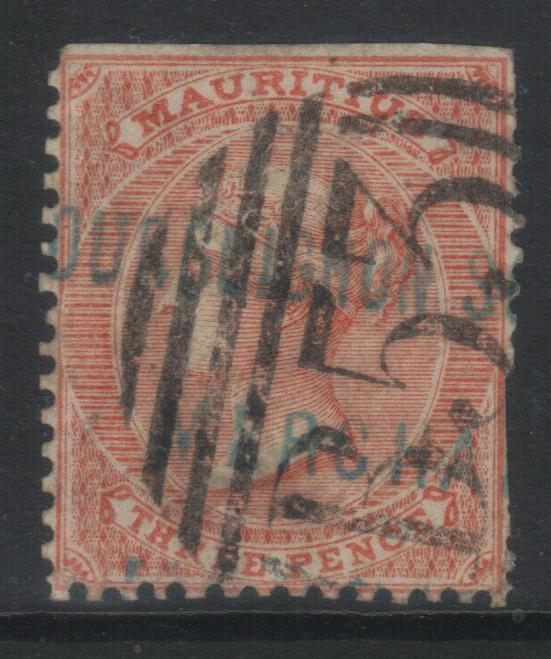 MAURITIUS 1863-1872 CROWN CC SG61a USED CAT £21