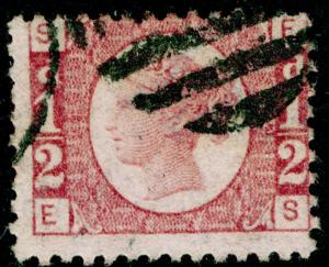 SG48, ½d rose-red PLATE 14, FINE USED. Cat £22. ES