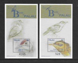 BIRDS - PALAU #555-6   MNH