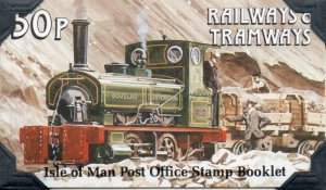 Isle of Man Sc 355b 1988 Trains stamp booklet mint NH