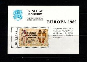Andorra (French) 1982 Europa semi-official souvenir sheet VFMNH