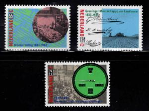 Netherlands Scott 717-719  MNH**  1987 set