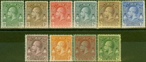 Turks & Caicos Is 1928 set of 10 to 5s SG176-185 V.F Very Lightly Mtd Mint