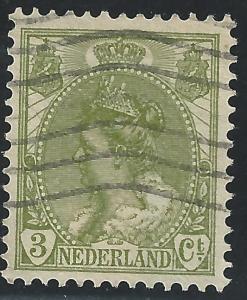Netherlands #62 3c Queen Wilhelmina