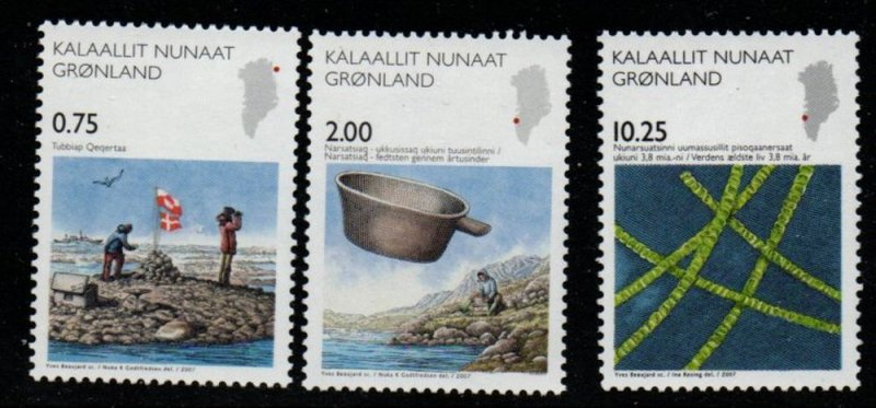 Greenland Sc 502-4 2007 Science stamp mint NH