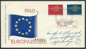 NETHERLANDS 1960 EUROPA registered commem FDC..............................59187