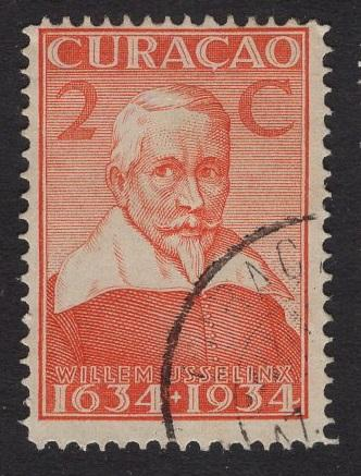 Netherlands Antilles  #112  1934 used  Curacao  300 yrs  2C