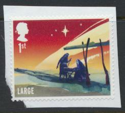 GB SG 3774  SC# 3453d Christmas 2015  1st Class Large Used on piece