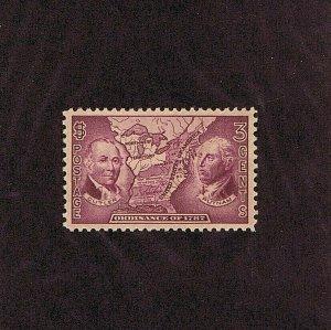 SC# 795 UNUSED OG MNH 3C NORTHWEST TERRITORY MAP,1937, 2021 PSAG CERT GRADED 100