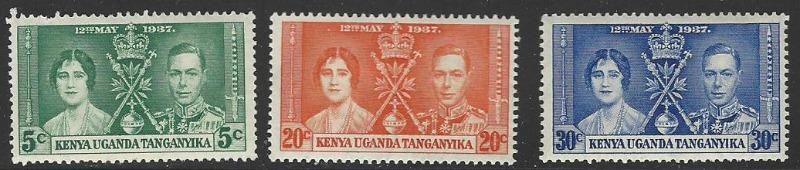 KUT 1937 Coronation Issue Full Set of 3