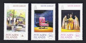 Pitcairn Silver Jubilee 3v SG#171-173 SC#160-162