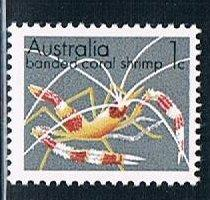 Australia 554, 1c Banded Coral Shrimp, single, MNH, VF
