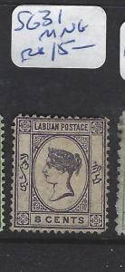 LABUAN   (PP2307B)  QV 8C   CAMEO  SG 31    MNG