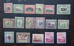North Borneo 1925 values to 8c used 1939 values to 25c MM