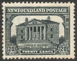 NEWFOUNDLAND-1931 20c Black Sg 207 toned gum AVERAGE MOUNTED MINT V46293