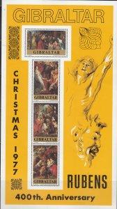 Gibraltar, Sc 362a, MNH, 1977, Annunciation by Ruben