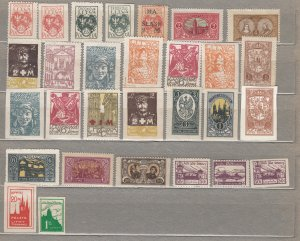 LITHUANIA CENTRAL 1920-1921 Stamps MH(*) CV 50 EUR #HS35