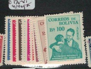 Bolivia SC 384-7, C176-87 MNH (6ecg)