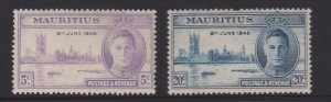 Mauritius Sc#223-224 MH - thin on one stamp