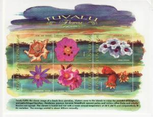 Tuvalu - Flowers 2 Sheet/6 Stamp & S/S Set  20J-003