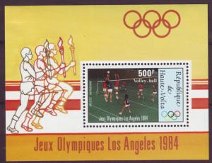 Z268 JLstamps 1984 upper volta-burkina faso s/s mh #c291 volley-ball sports