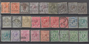 COLLECTION LOT # 2505 GREAT BRITAIN  27 STAMPS 1911+CLEARANCE UNCHECKED