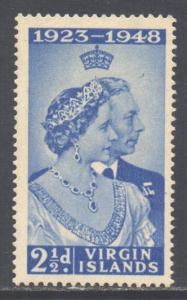Virgin Islands BVI Scott 90 - SG124, 1948 Silver Wedding 2.1.2d MH*