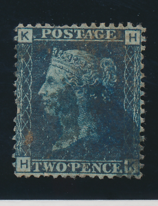 Great Britain Stamp Scott #29, Used, Plate #9 - Free U.S. Shipping, Free Worl...