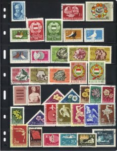 Hungary 1957 - 58 Selection Singles & Short Set 38 Stamps F