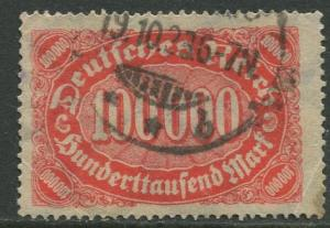 GERMANY. -Scott 209 - Definitives -1922- Used - Wmk 126 - Single 10000m Stamp