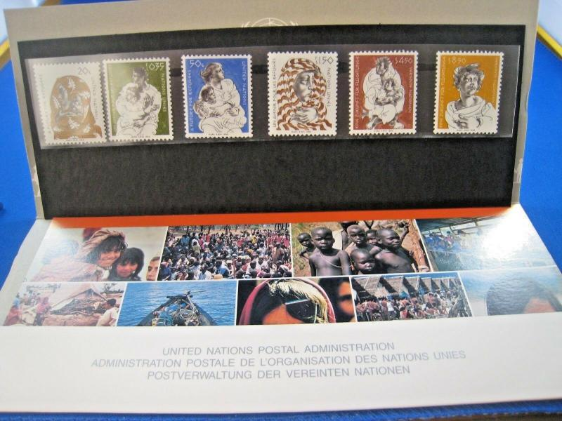 UNITED NATIONS  -  1984 FUTURE FOR REFUGEES PRESENTATION PACK    MNH