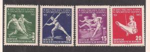 GERMANY - DDR SC# 297-300 F-VF MNH 1956
