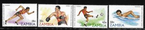 Zambia 1980 22nd Summer Olympics Moscow Sc 216-219 MNH A1424