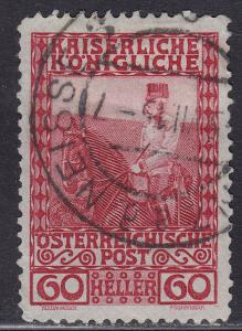 Austria 122 Franz Josef on Horseback 60h 1908