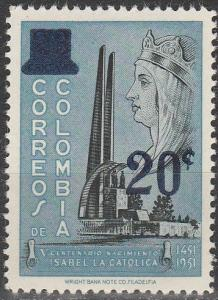 Colombia #693  MNH (S9580)