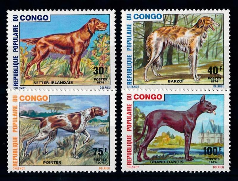 [65547] Congo Brazzaville 1974 Dogs  MLH