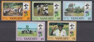 J29537, 1982 vanuatu set mnh #337-41 scouts