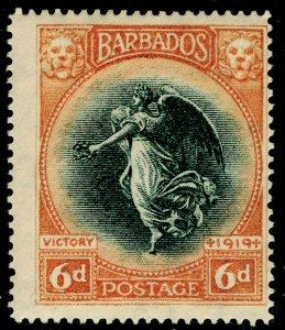 BARBADOS SG208, 6d blk & brown-orange, M MINT.