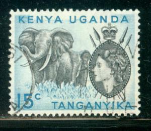 Kenya Uganda Tanzania Scott # 105, used