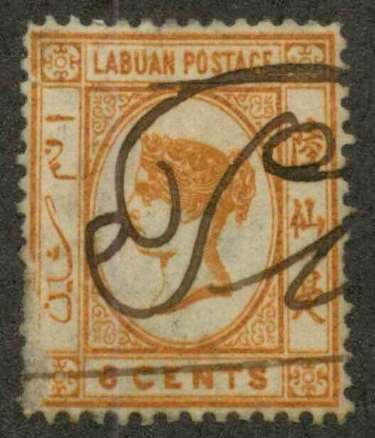 Labuan 6 Used VF See note